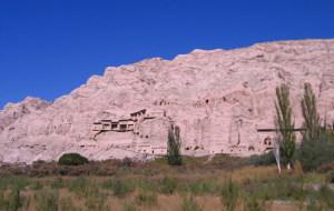 【库尔图片】2007,我独自背包的丝路之旅(11):库车克孜尔千佛洞之旅