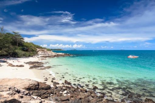 沙美岛快艇一日游 半日游5岛浮潜看珊瑚 酒店接送 水果 饮用水 浮潜用具