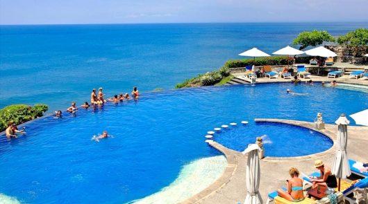 【专车服务】巴厘岛蓝点酒店午餐 玻璃教堂 无边泳池