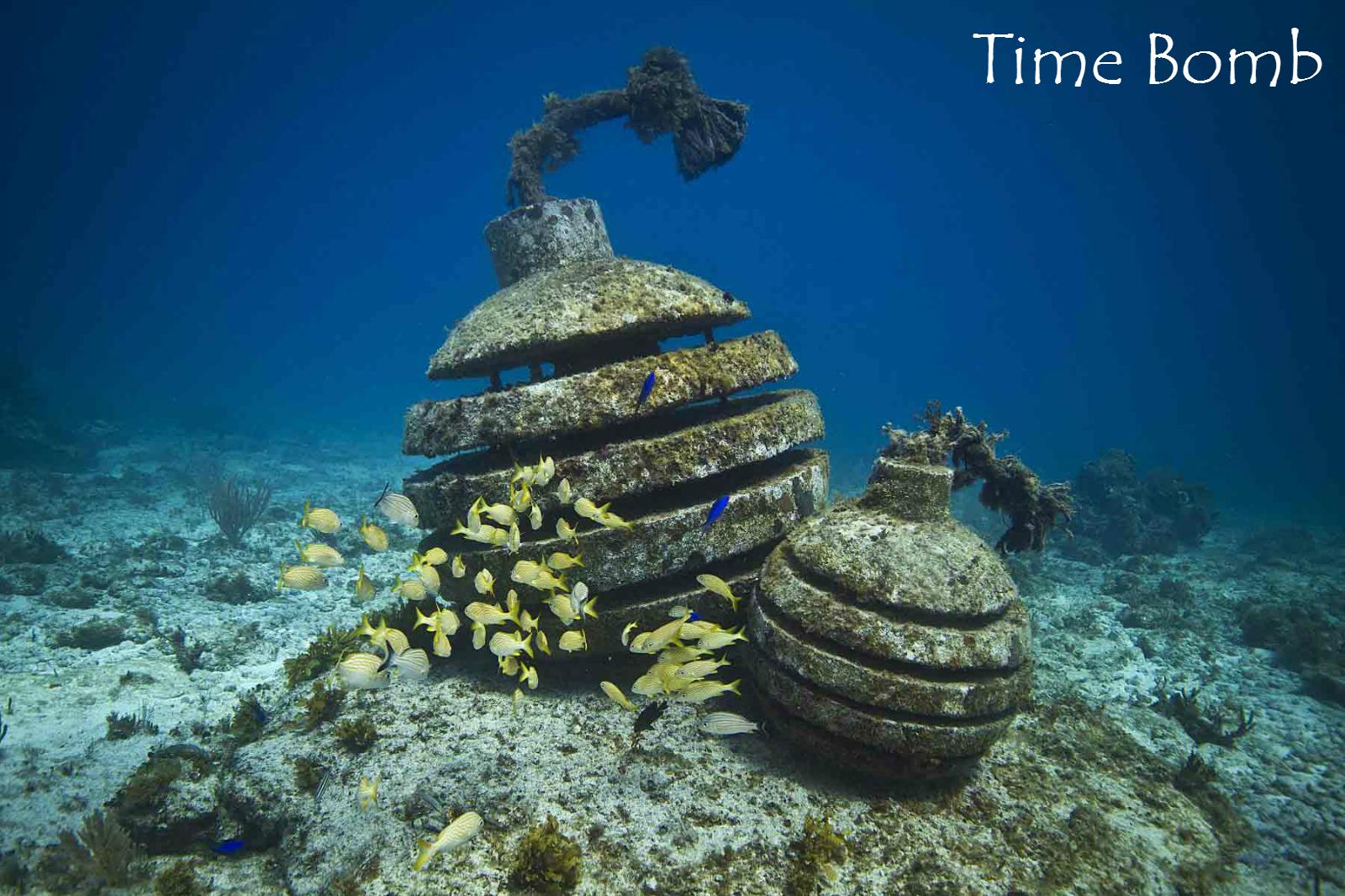 坎昆 欣赏神秘海底居民 3小时海底雕塑博物馆潜水(零基础可以浮潜/持