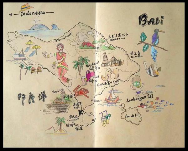 巴厘岛~手绘旅行小漫画开启~--巴厘岛游记--蚂蜂窝