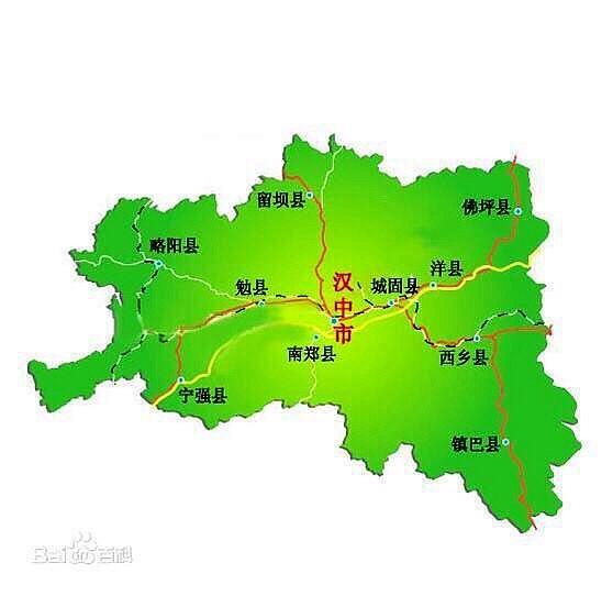 手绘洋县地图儿童版