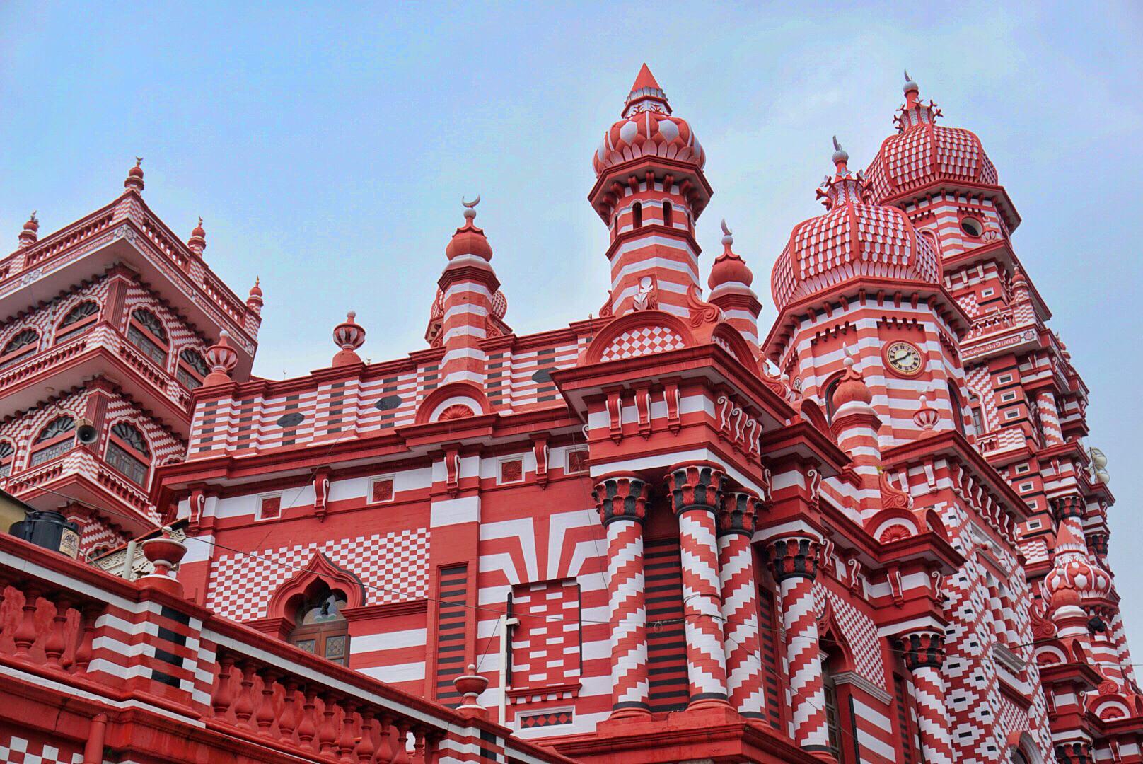 【科倫坡景點圖片】紅色清真寺