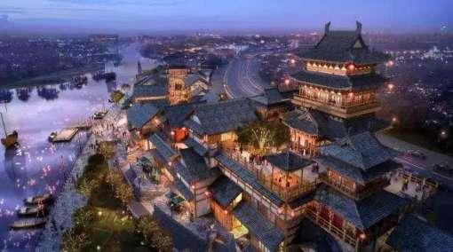 以汉朝初兴的历史辉煌为底色,兴汉胜境拥有汉文化建筑奇观与艺术殿堂图片