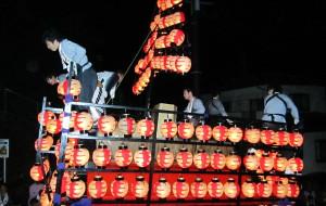 【福岛市图片】日本福岛县二本松市的提灯祭
