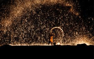 【张家口图片】印象蔚县暖泉镇:古堡民俗,打树花全记录