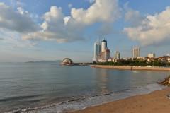 看海的日子---难得一见的好天气为海景平添了画意!