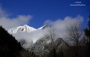 【阿坝图片】孟屯河---雪峰映天的木厂沟