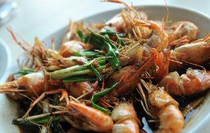 杭州美食-老头儿油爆虾