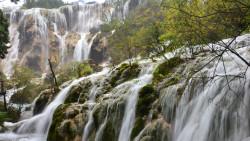 九寨沟景点-珍珠滩瀑布