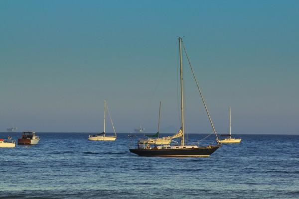 傍晚的海滩,情侣,朋友,家人,海鸥,帆船,迷人