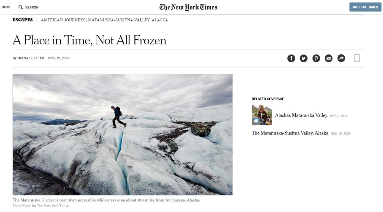 阿拉斯加冰川徒步,亲自踏足这片外太空的幽蓝空间_图8