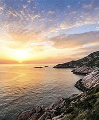 夏天、海边、日出