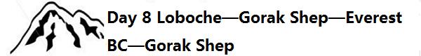 Day 8 Gorak Shep